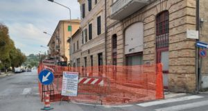 Il cantiere avviato in viale Mazzini