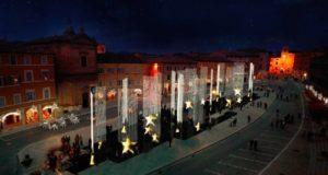 Il progetto dell'installazione in Piazza del Popolo