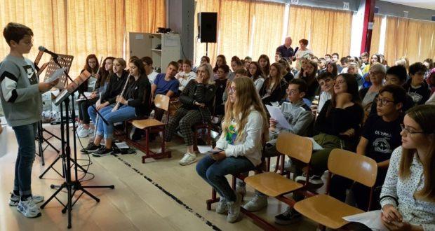Gli alunni delle Medie coinvolti nel progetto