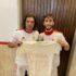 """I due marcatori, Borioni e Prioglio, con la maglia dedicata a Raffaele Fiorgentili (""""Cita"""") ricoverato in ospedale"""