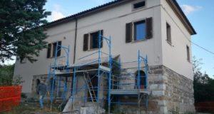 Una delle abitazioni interessate dalla ricostruzione