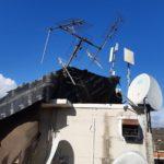 Antenne piegate dal vento