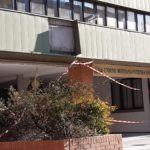 Il distacco che ha interessato la sede dell'Unione montana in viale Mazzini