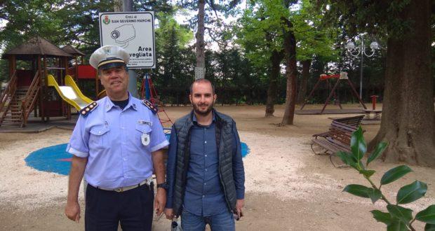L'assessore Jacopo Orlandani e l'ex comandante Sinoblado Capaldi