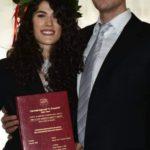 La neodottoressa Francesca Piloni con il fratello Emanuele
