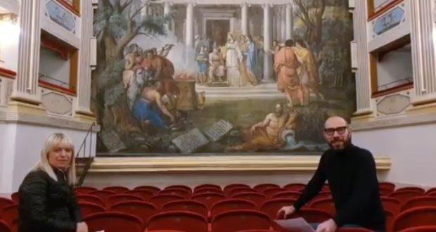 Il sindaco Rosa Piermattei e il direttore artistico Francesco Rapaccioni