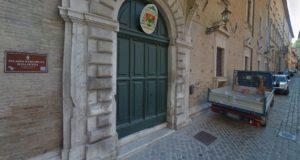 L'ingresso del Palazzo vescovile