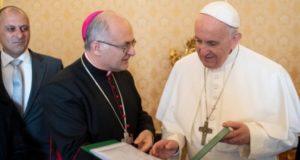 Il vescovo Massara con Papa Francesco
