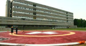 L'elisuperficie all'ospedale di San Severino