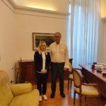 Il sindaco Piermattei con il Commissario Legnini