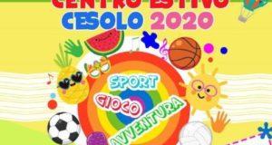 La locandina del Centro estivo Cesolo 2020