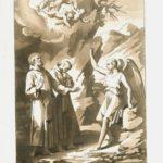 """Filippo Bigioli, San Severino Vescovo (con San Vittorino suo fratello) solennizzato il giorno 8 gennaio, acquaforte tratta da """"Il Perfetto Leggendario"""", 1839."""