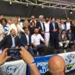 La Lega si è presentata a Macerata con Salvini, Acquaroli e Parcaroli