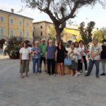 Silvio Craia in piazza con gli amici della Pro loco
