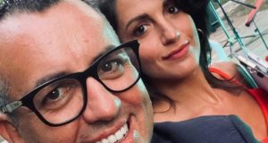 Marco Moscatelli e Federica Zarroli, una delle indossatrici della serata