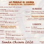 Il programma delle solennità per Santa Chiara