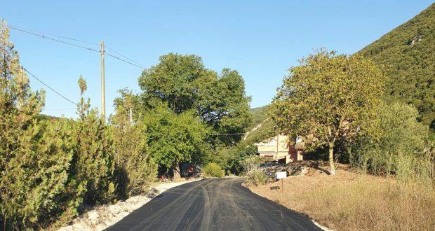 Strada asfaltata nella Valle Grilli