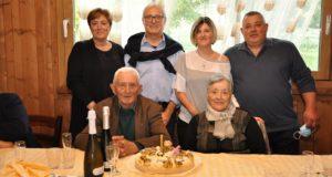 Primo e Dina con i figli Alessandra e Tarcisio e i loro coniugi