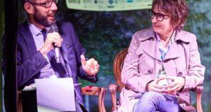 Francesco Rapaccioni con la scrittrice Di Pietrantonio