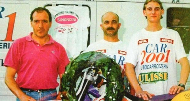 Gianni Ulissi con Juri Simoncini e Gilberto Maccari