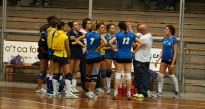 Un time out chiesto dal coach Mosca