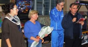 Paola, la mamma di Marco Rapaccioni, assieme a Silvia Marinsalti, Tarcisio Antognozzi e don Donato