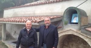 L'assessore Giampaolo Muzio con Guido Carnevali (foto d'archivio)
