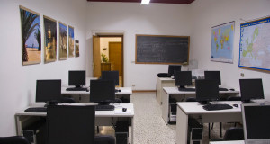 Aula di informatica all'Uteam