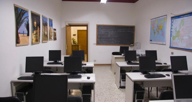 Aula di informatica all'Uteam