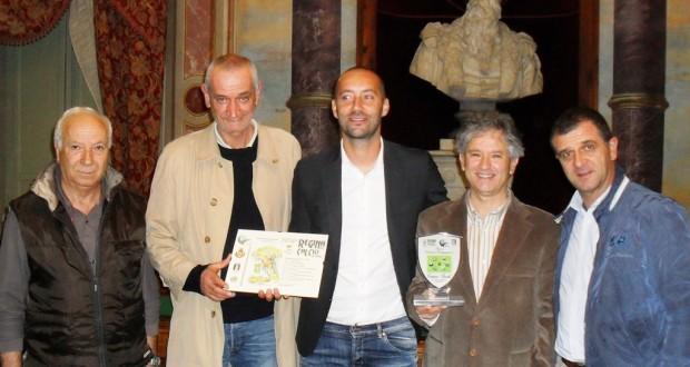 Da sinistra: Renzo Leonori, Sandro Compagnucci, Cristian Bucchi, Gabriele Cipolletta e Gianpiero Pelagalli