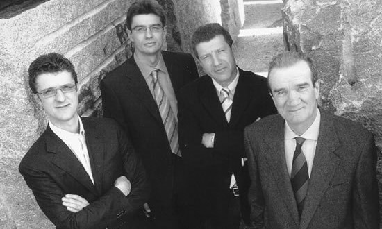 Da sinistra: Luigi, Giovanni, Roberto e Vittorio Soverchia