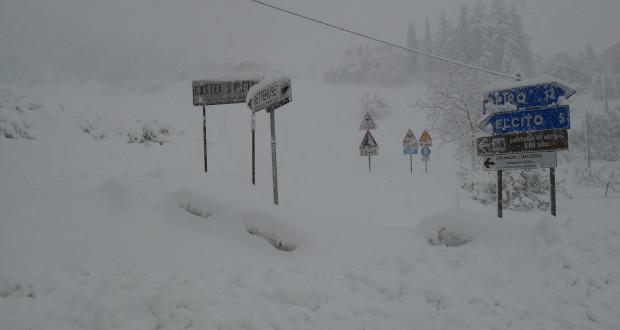 Neve caduta in abbondanza su tutto il territorio settempedano