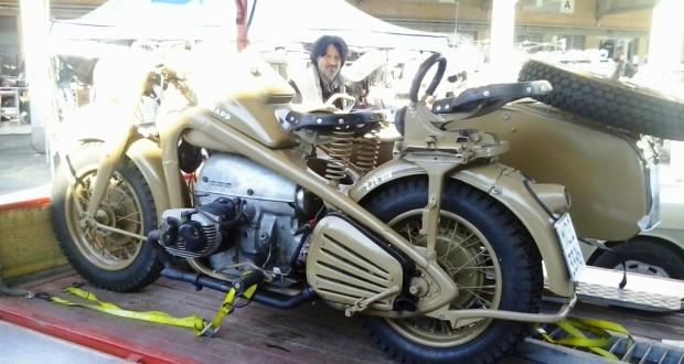 Una Zundap 750 cc del 1942 già esposta a Villa Potenza