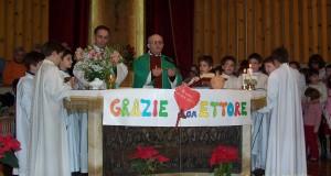 Il saluto a don Ettore Conti