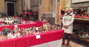 Serenella Eugeni in un angolo della mostra