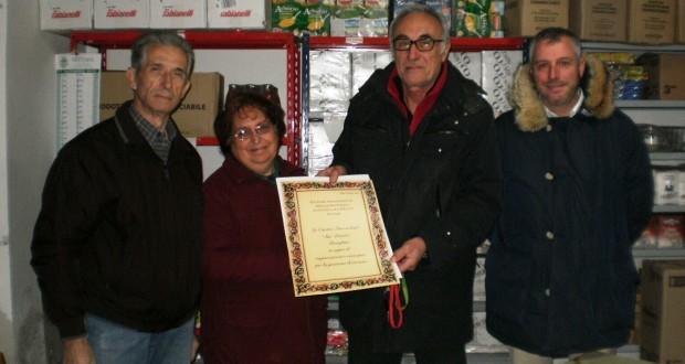 Il presidente Caglini con Fratini, Cobel e Sabbatinelli