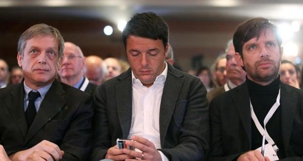 I candidati Cuperlo, Renzi e Civati