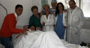 L'équipe sanitaria che ha assistito la mamma di Andri, il primo nato del 2014 a San Severino