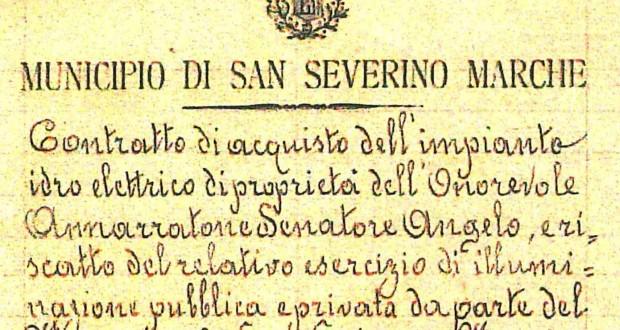 Il contratto firmato 100 anni fa