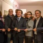 L'inaugurazione della mostra di Scarponi