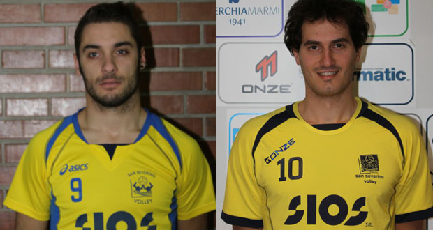 """I due giocatori del """"San Severino Volley"""""""