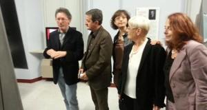 Paolo Gobbi illustra le opere in mostra