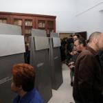 Un momento dell'inaugurazione della mostra