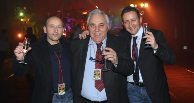 Il presidente Ciclosi brinda al nuovo anno assieme ai fratelli Crescenzi