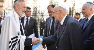 Il rabbino Di Segni con il presidente Napolitano
