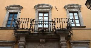 Un particolare del palazzo Servanzi Confidati