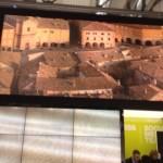Piazza del Popolo di San Severino: una delle immagini-simbolo dello stand delle Marche alla Bit di Milano