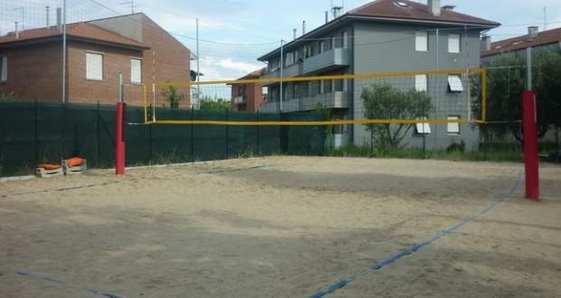 Il vecchio campo da beach volley