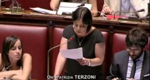L'on Patrizia Terzoni in Parlamento