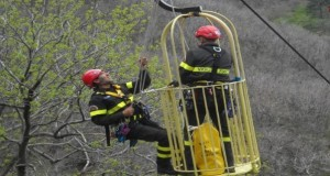 Un intervento dei vigili del fuoco